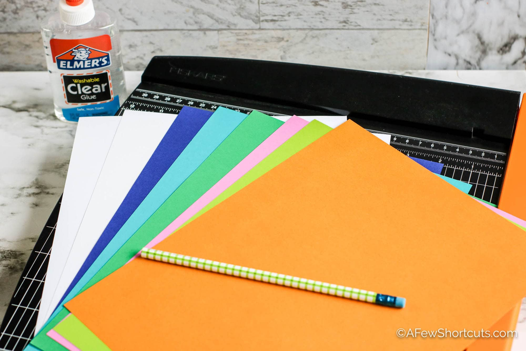 Construction paper and paper cutter