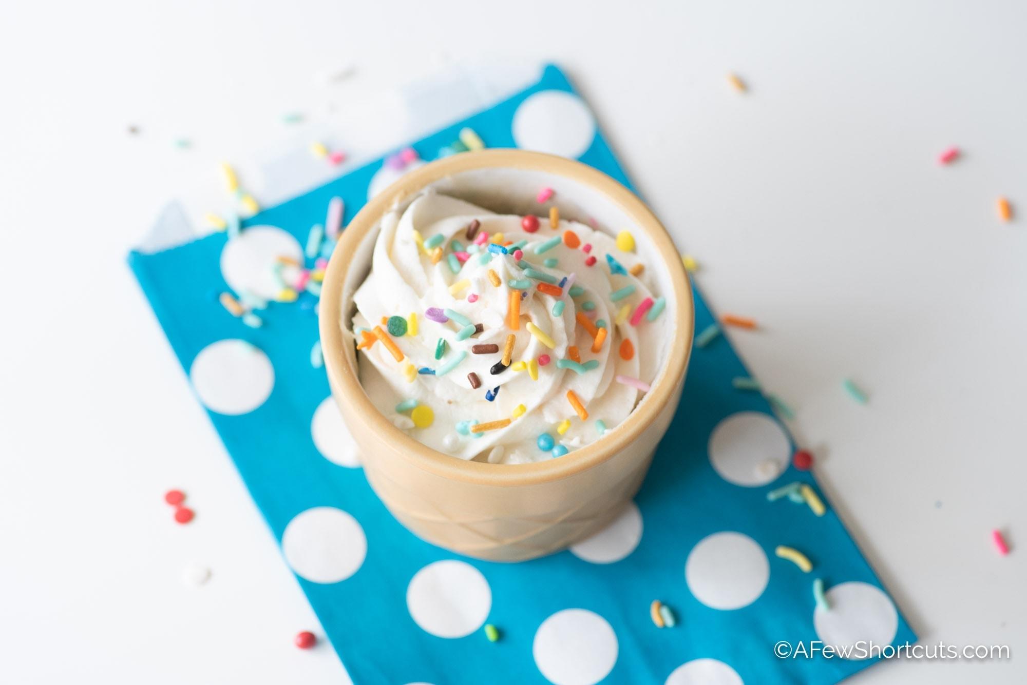 Vegan Funfetti Mug Cake