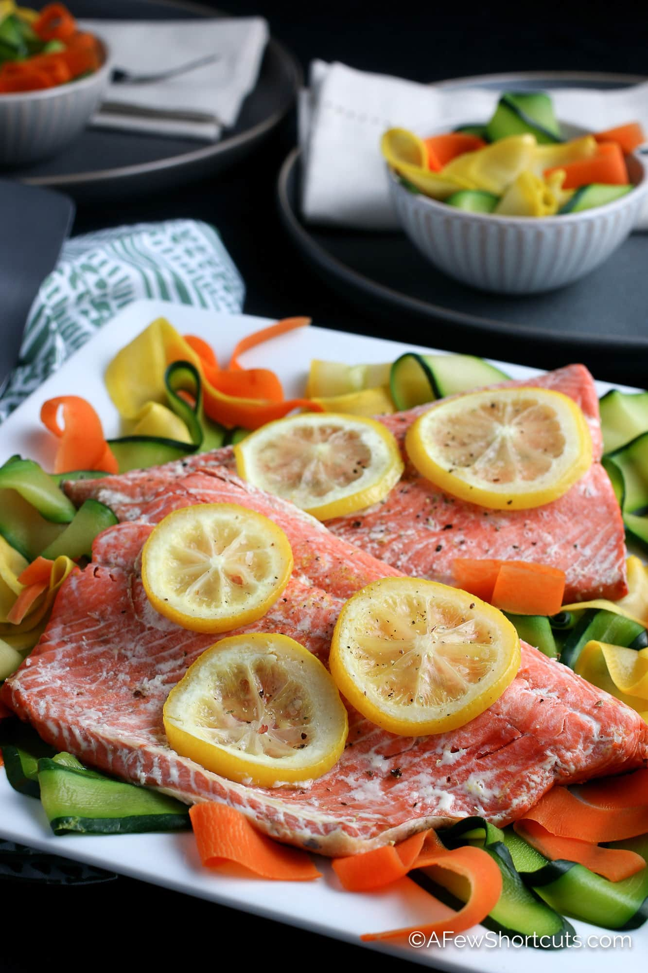 Instant Pot salmon with lemons