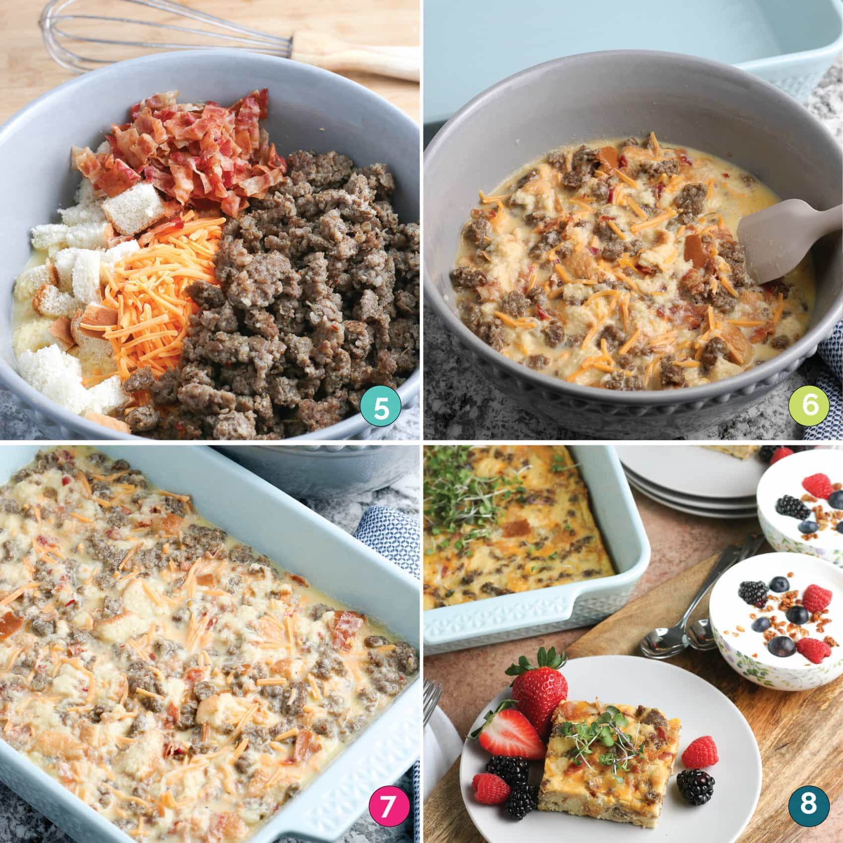 Gluten Free Overnight Breakfast Casserole Steps 2