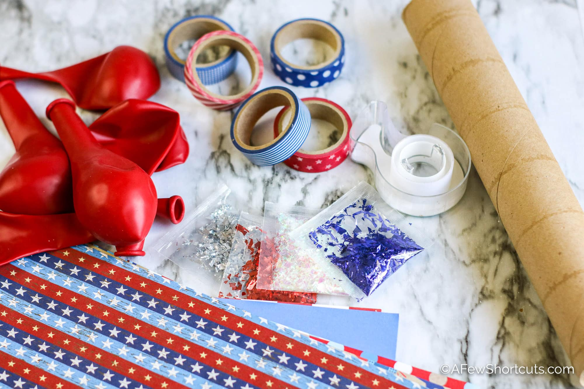 Red White and Blue Craft Supplies