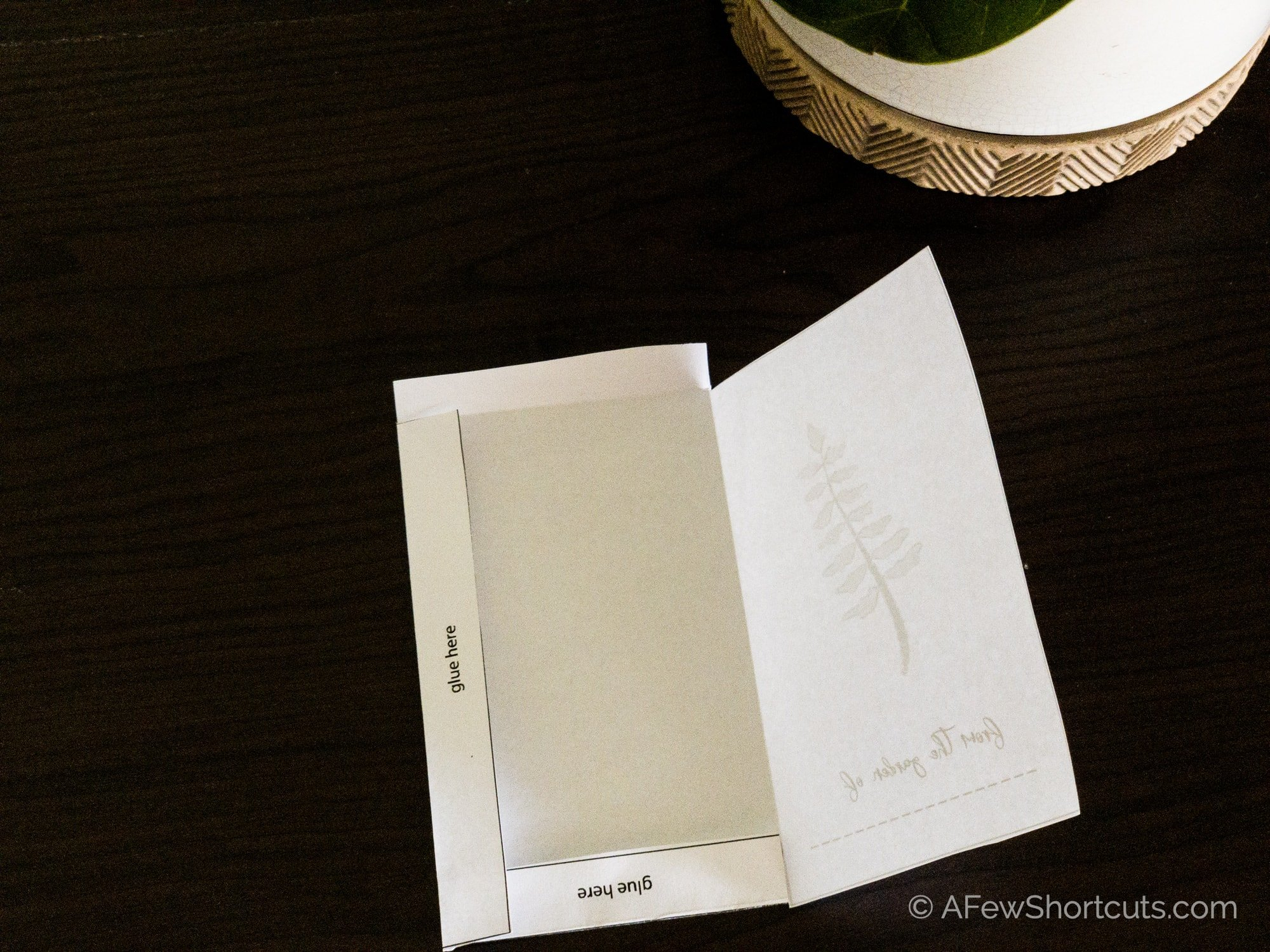 Folded seed packet template
