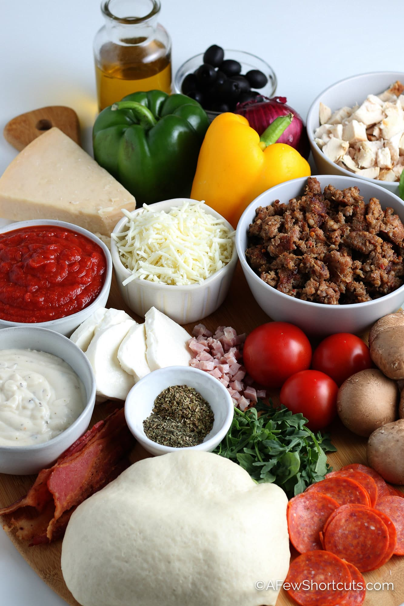 grilled pizza toppings