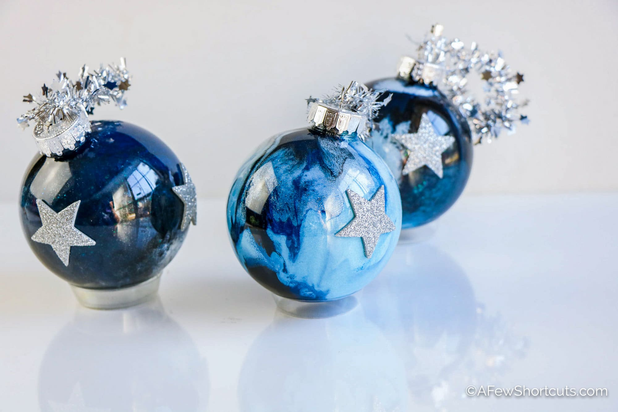 How To Make Glitter Ornaments Galaxy Style A Few Shortcuts