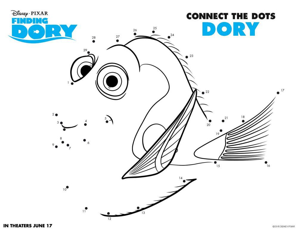 FREE Finding Dory Printable Coloring Pages Findingdory5702e062bcbac